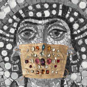 """""""Mascherina dell'Imperatrice Teodora"""" Dono per l'incoronazione avvenuta il 1° aprile dell'anno 527"""
